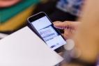Digitale Infos auf dem Smartphone