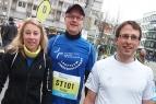 Sie werden als erste in den drei Staffeln aus dem Rheinland laufen, v.l.: Sabine Lang, Rüdiger Rentzsch und Tobias Jazbec.