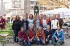 Stolzes Team Landeskirchenamt: Alle drei Staffeln sind schnell gelaufen, haben prima Zeiten erreicht.