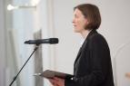 """ESG-Pfarrerin Dr. Claudia Andrews begrüßte die Gottesdienstgemeinde: """"Wir wollen offen sein für die Berichte der Menschen und für Gottes Wort."""""""