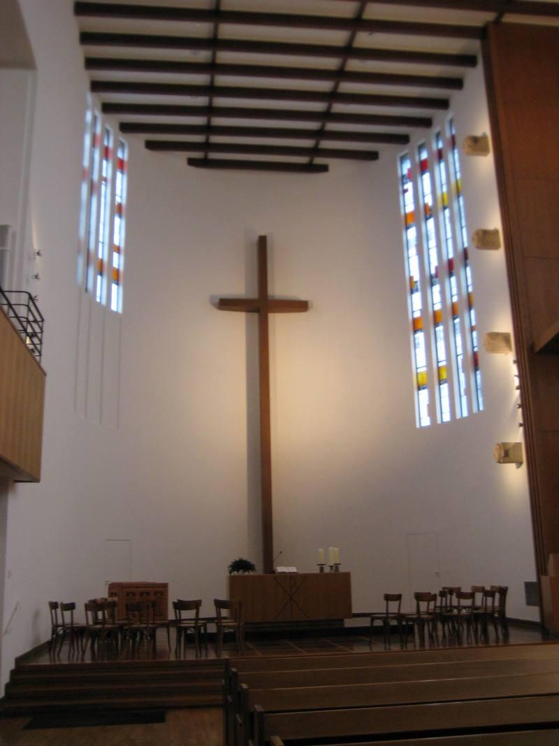 Blick in die Düsseldorfer Matthäikirche.