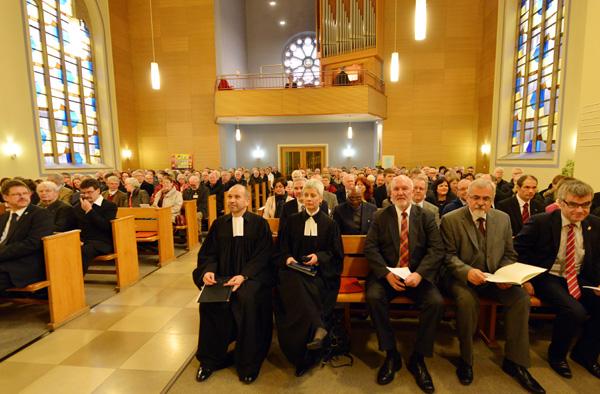 Eröffnungsgottesdienst der Landessynode 2014 in der Martin-Luther-Kirche in Bad Neuenahr.