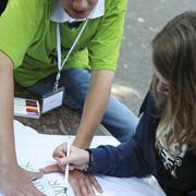 Noch einmal Highlight Jugendcamp, hier Moers: Die evangelische Kirche macht vielfältige Angebote für Jugendliche. Foto: Jill Flug