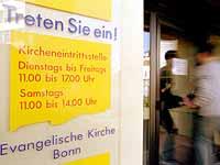 Auch der Kirchenkreis Bonn unterhält eine Eintrittsstelle.