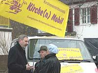 Mobil dort, wo Menschen zusammen kommen: Kirchenmobil des Kirchenkreises Bad Godesberg-Voreifel.