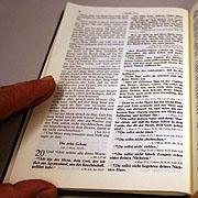 Die zehn Gebote, wie sie im zweiten Buch Mose überliefert sind.