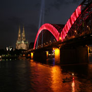 Installation beim Kirchentag in Köln 2007 an der Hohenzollernbrücke.