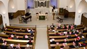 Familiengottesdienst in einer rheinischen Gemeinde.