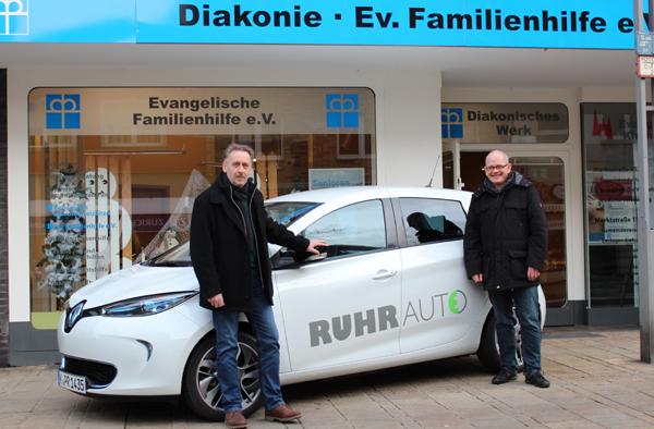Elektroautos bei der Diakonie in Oberhausen