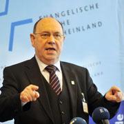 Landessynode 2011: Pressekonferenz mit Präses Nikolaus Schneider