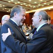Landessynode 2011: Ministerpräsident Kurt Beck und Präses Nikolaus Schneider