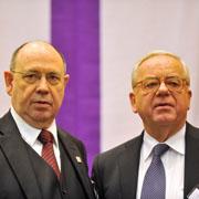 Präses Nikolaus Schneider und Vizepräsident Christian Drägert