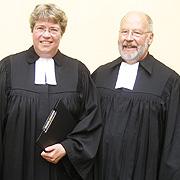 Oberkirchenrätin Barbara Rudolph und der neue Studienleiter in Nes Ammim, Dr. Rainer Stuhlmann.