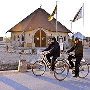 Aus dieser Kirche im Camp in Mazar-e Sharif kommt der Radiogottesdienst an Heiligabend, zu empfangen bei Deutschlandfunk und Deutscher Welle.