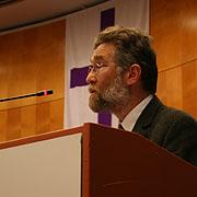 Grußwort bei der Landessynode 2012: Didier Crouzet aus Frankreich.