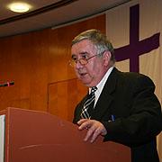 Grußwort bei der Landessynode 2012: Gustav Bölcskei aus Ungarn.
