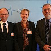 Erklärten die Finanzlage der rheinischen Kirche: (v.l.) Peter Krolle, Gudrun Gotthardt und Dr. Horst Butz.