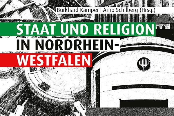 Ausschnitt des Buchcovers 'Staat und Religion in NRW'.
