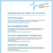 Der EKiR-Newsletter erscheint jeden Freitag und bündelt die wichtigsten Nachrichten der Woche.