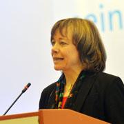 Annette Kurschus, die westfälische Präses, bei ihrem Grußwort an die Landessynode 2013