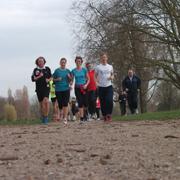 Training für den B2Run 2013 in Düsseldorf, weitere acht Trainingseinheiten stehen noch an.