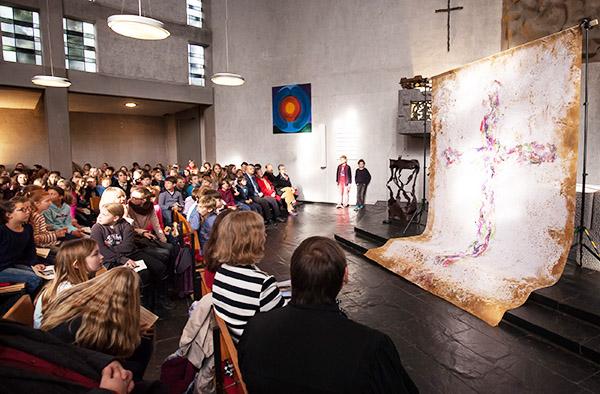 Eröffnung des Themenjahrs 'Bild und Bibel': Gottesdienst am Reformationstag in Bonn-Bad Godesberg.