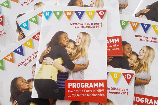 Das Programmheft für den NRW-Tag 2016. Foto: Landeshauptstadt Düsseldorf