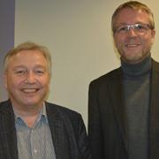Landespfarrer Christoph Nötzel und Pastor Lars Lindner.