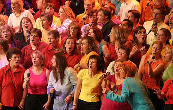 Archivfoto: Galakonzert beim Gospelkirchentag 2006