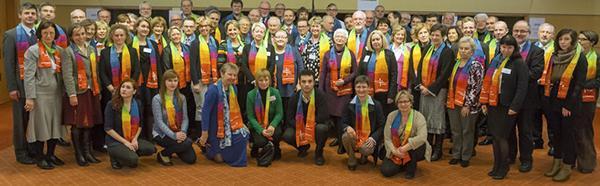 Erinnerungsfoto: die Teilnehmenden der 2. Europäischen Synodalenbegegnung.