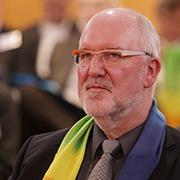 Helmut Schwerdtfeger, Mitglied der rheinischen Kirchenleitung, wirbt für eine starke Stimme der Kirchen.