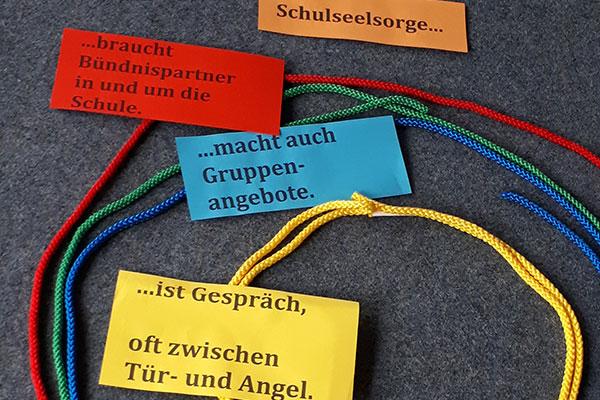 Aus einem Workshop 'Einführung in die Schulseelsorge'