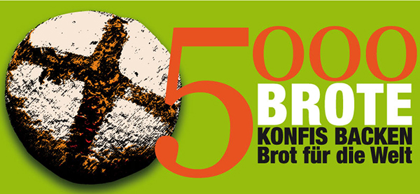 '5000 Brote - Konfis backen Brot für die Welt' ist eine EKD-weite Aktion.
