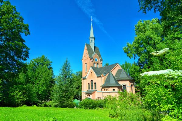 Die Kirche in der Evangelischen Stiftung Tannenhof.