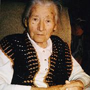 Margarete Schneider im November 2001, ein Jahr vor Ihrem Tod.