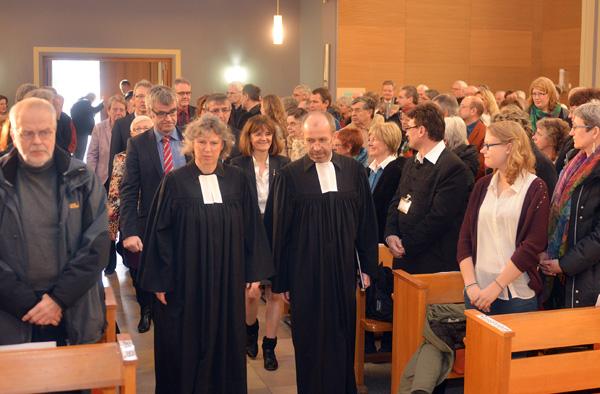 Petra Bosse-Huber beim Gottesdienst zu ihrer Verabschiedung.