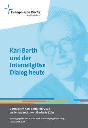 """Cover """"Karl Barth und der interrreligiöse Dialog heute"""""""