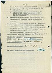 Vereinbarung zur Wiederherstellung einer bekenntnisgebundenen Ordnung und Leitung der Evangl. Kirche der Rheinprovinz. Bestand: AEKR_7NL 216M (Elfriede Goerisch), 15