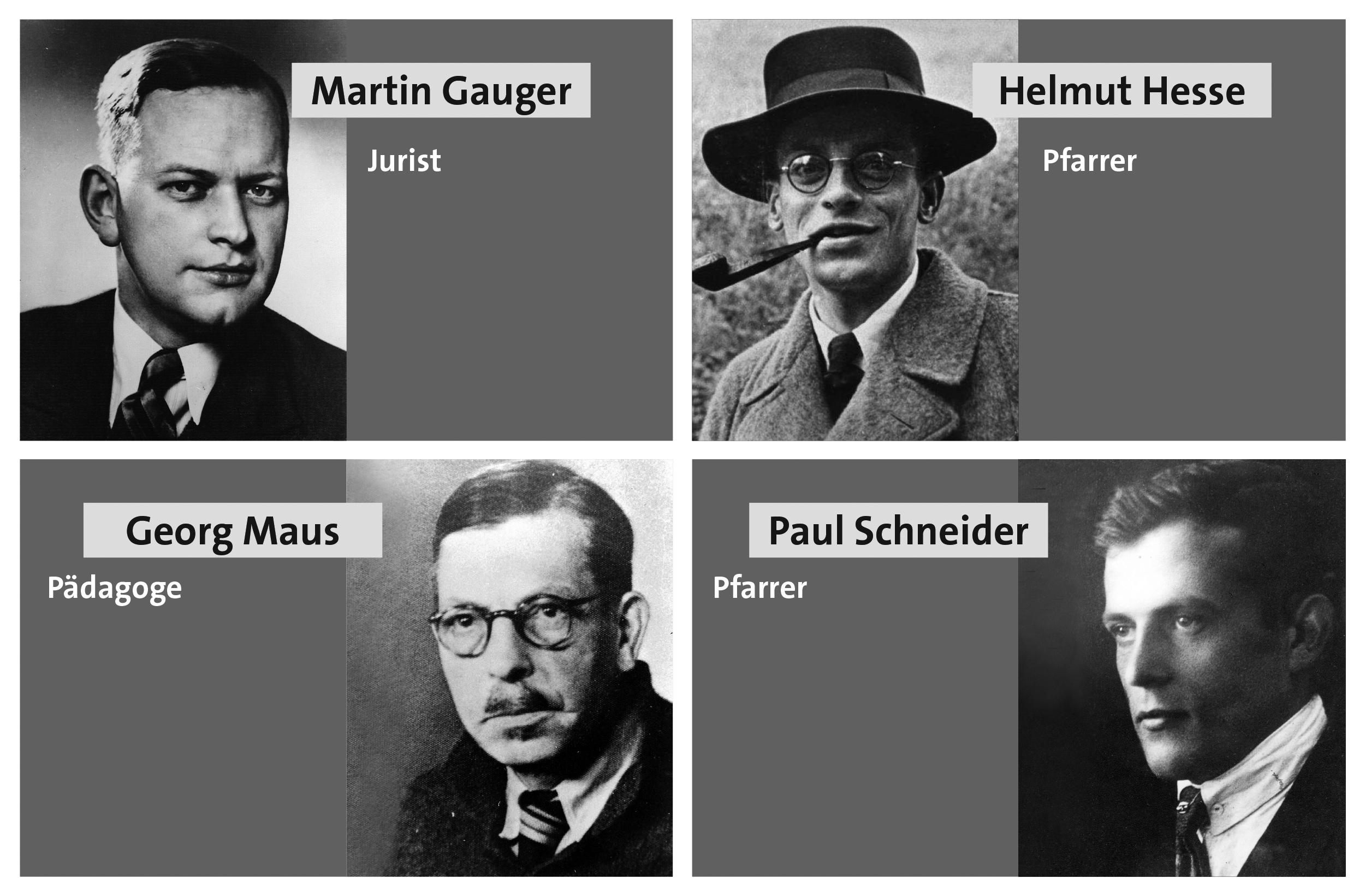 Schneider, Gauger, Hesse und Maus waren überzeugte Christen. Sie schwammen in Nazi-Deutschland gegen den Strom und bezahlten das mit ihrem Leben.