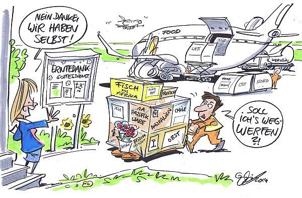 Cartoon zum Erntedank