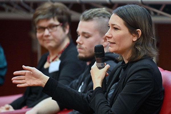 Anne Spiegel, Jugendministerin Rheinland-Pfalz, auf der Jugendsynode