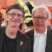 Fred George und Andrew Wakeford (r.) schufen die Installation