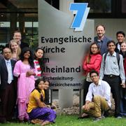 Die Studierenden aus Indien waren auch im Landeskirchenamt in Düsseldorf zu Gast.