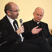 Präses Manfred Rekowski (l.) und Bischof Dr. Franz-Josef Overbeck