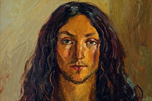 Jesus, der Nazarener: Das Gemäle 'Il Nazareno' aus dem Jahr 1977 stammt von dem italienischen Künstler Antonio Sicurezza.
