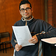 Seit der ersten Probe dabei: Mohamad Mostafar aus Syrien.