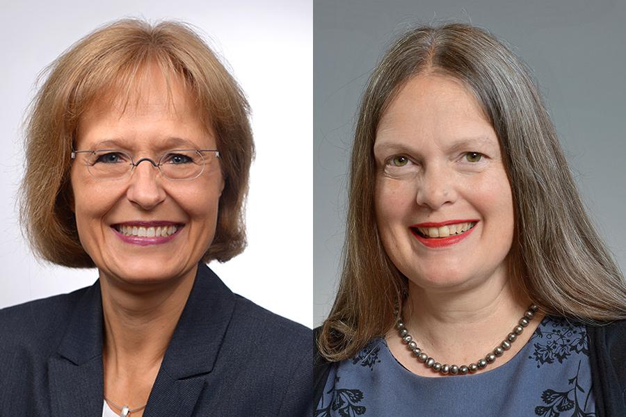 Zwei Theologinnen kandidieren für die Leitung der Abteilung Bildung: Dr. Susanne Federmann und Henrike Tetz.