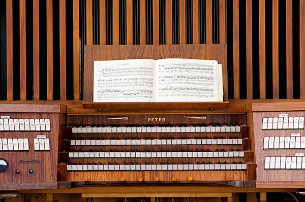 Bereit zum Orgelspiel