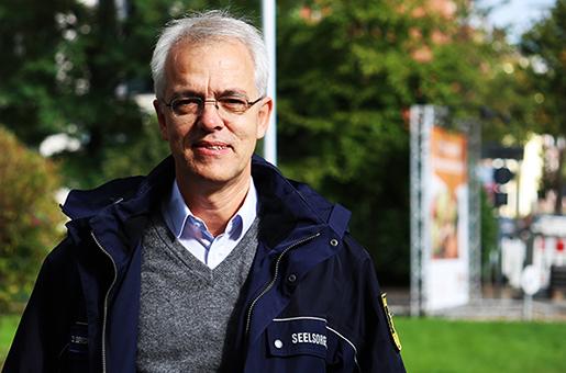 Der leitende Landespfarrer für Polizeiseeslorge Dietrich Bredt-Dehnen