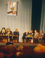 Diskussion im Theater von Pskow, Versöhnungsreise, Juni 1991